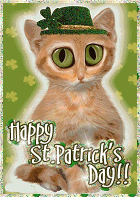 happy st patricks day glitter cat desicommentscom