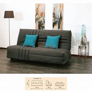 banquette clic clac couchage 130cm hip With banquette couchage
