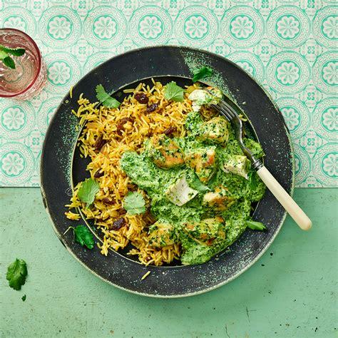 coriander chicken spiced rice recipe gousto