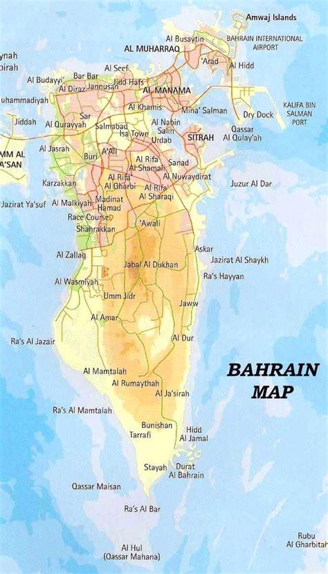 Map of Bahrain in 2020   Bahrain map, Bahrain, Map