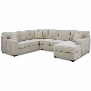Contemporary sectional group by klaussner wolf and for Sectional sofas wolf furniture