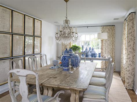 Distressed White Dining Table Design Ideas