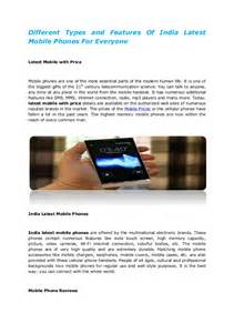 Different Types of Mobile Phones