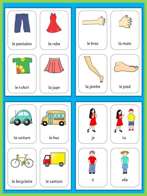 French Flash Cards Basic Vocabulary  French Resources  French Lessons, Vocabulary, French