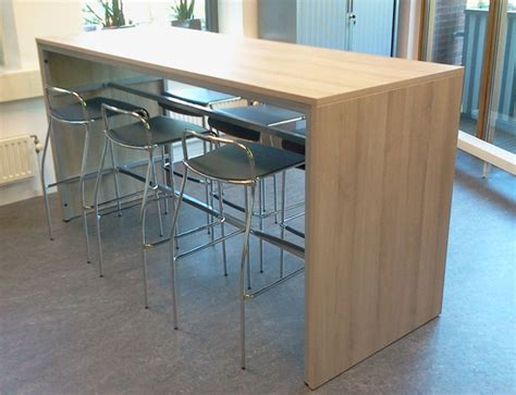 hauteur table bar cuisine ooth r148 table de bar 140x80cm hauteur 110cm burodepo