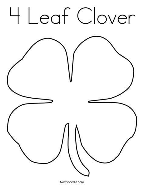 leaf clover coloring page twisty noodle