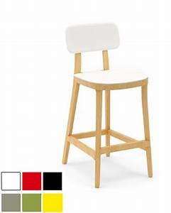 Tabouret Haut En Bois : tabouret haut de bar en bois avec peinture laqu e ulsan ~ Teatrodelosmanantiales.com Idées de Décoration