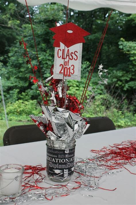 ideas homemade centerpiece for parties my home design 15 best graduation centerpieces images on pinterest