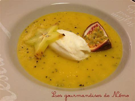 recette avec de la mangue dessert soupe de mangue sorbet citron les gourmandises de n 233 mo