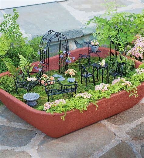 walled self watering herb garden planter with