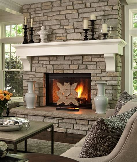Tall Floor Standing Candle Holders by 40 Stone Fireplace Designs From Classic To Contemporary Spaces