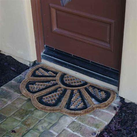 half doormat outdoor quot petals quot half moon door mats