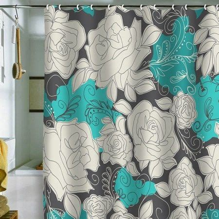 top 25 ideas about teal shower curtains on