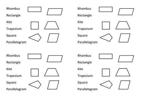 naming quadrilaterals diagnostic starter plenary by