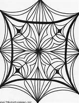 Coloring Kaleidoscope Printable Adults Abstract Mandala Drawing Imagixs Guardado Desde sketch template