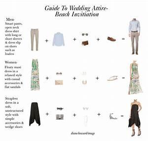 guide to wedding attire beachl invitation by diane howard With wedding invitation wording guest attire
