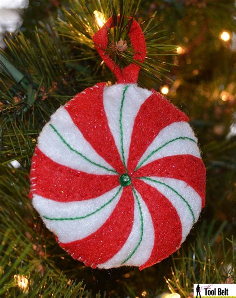 day  christmas peppermint candy ornament