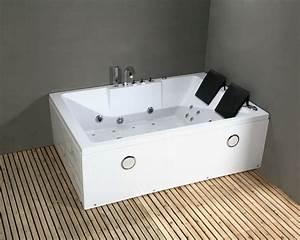 Whirlpool Badewanne 185x120 LuftWasser Heizung 42
