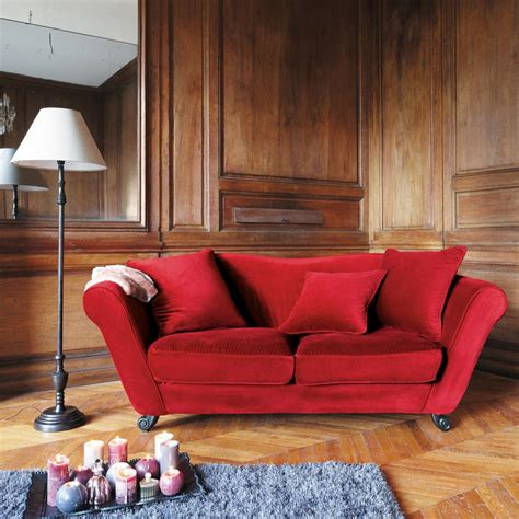 style de canapé canapé 3 places en velours baroque maisons du monde