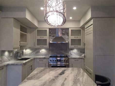 mont blanc quartzite kitchen and backsplash