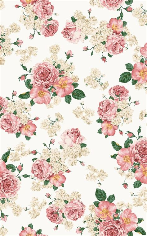 shabby chic floral wallpaper floral print