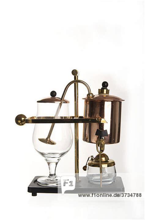 Alte Lenschirme Aus Glas alte kaffeemaschine aus glas kupfer und messing mit