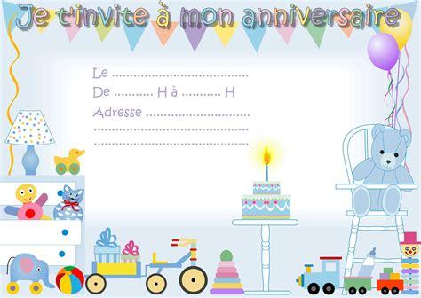 Carte D Invitation Anniversaire Garcon