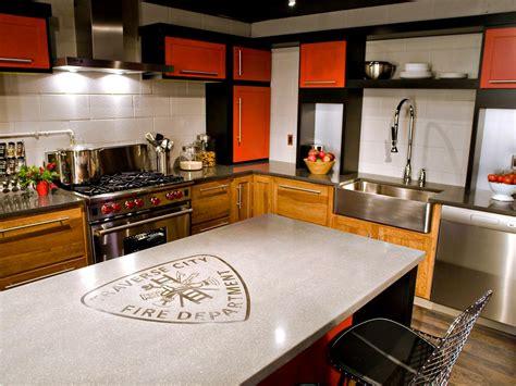 concrete kitchen countertops pictures ideas  hgtv