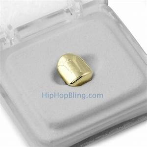 Gold Single Tooth Cap Grillz - Gold Grillz - A001G