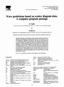 Pdf  Wave Predictions Based On Scatter Diagram Data  A