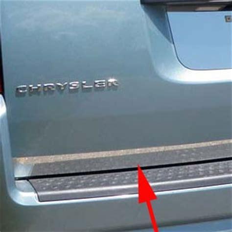 dodge grand caravan chrome rear deck trim