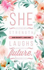 Proverbs 31:25   Bible verse background   Pinterest ...