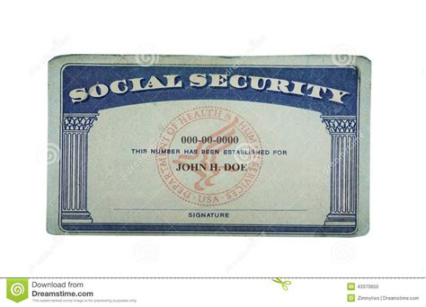 blank card stock photo image  paper social security