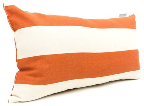 outdoor burnt orange vertical stripe small pillow