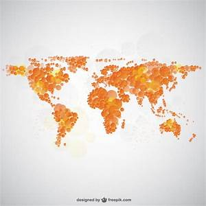 World map bubble design Vector | Free Download