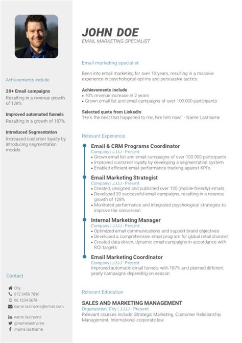 Professional Cv Exles by Create Your Professional Cv In 3 Simple Steps Cv Template