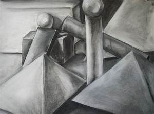 Black and White Geometric Still Life by cusT0M on deviantART
