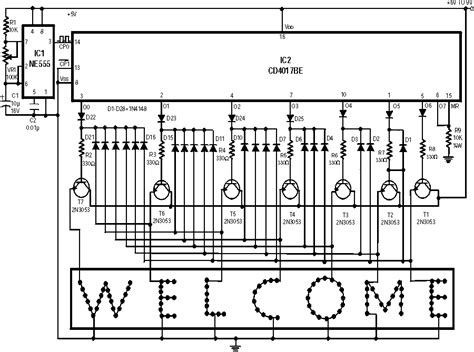 Led Circuit Diagram Letter by Running Message Display Led Circuit The Circuit