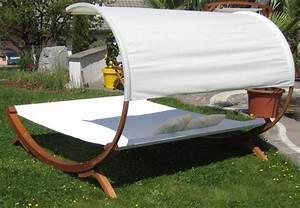 Transat En Bois : hamac transat de jardin pour 2 personnes toit ~ Teatrodelosmanantiales.com Idées de Décoration