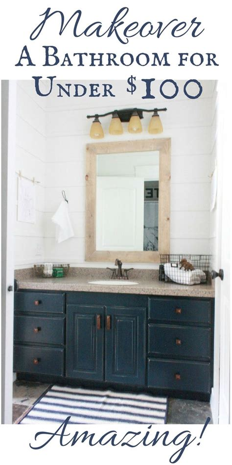 budget friendly bathroom makeover reveal diy