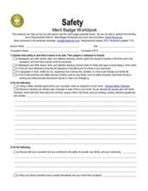 safety merit badge worksheet for 5th 12th grade lesson planet