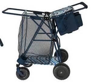 Transport Chairs At Walmart by Big Folding Beach Cart Amp Portable Cooler Shopping Gear