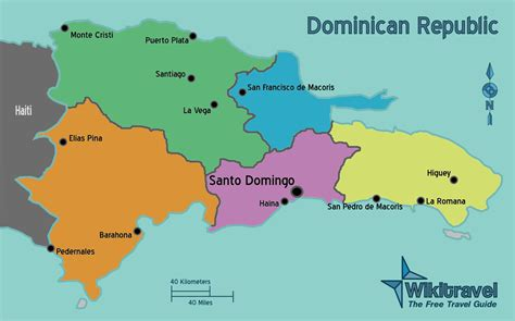 map  dominican republic political map worldofmaps