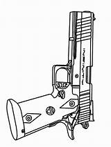 Coloring Pages Gun Printable Boys sketch template