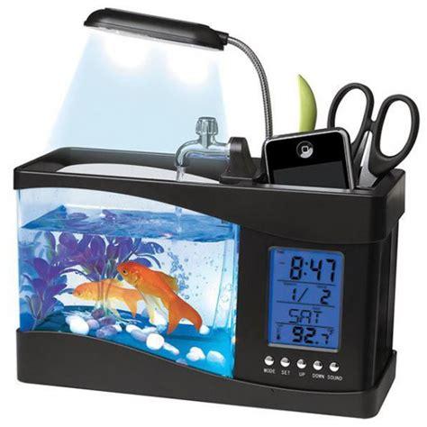 bureau aquarium aquarium de bureau usb avec station météo commentseruiner