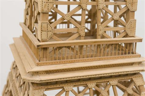 Poltrona A Dondolo Tower Wood : A Large Vintage Wood Eiffel Tower At 1stdibs