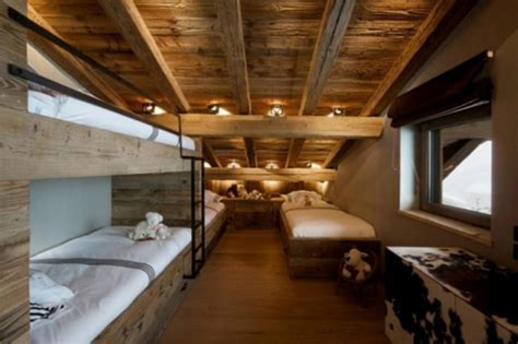 rustic chalet  natural wood  megeve french alps