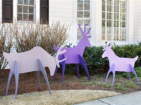 easy outside decorations make easy to store holiday yard reindeer hgtv