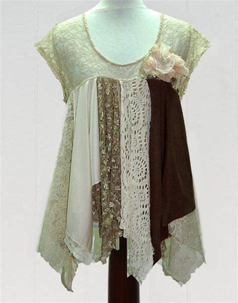 shabby chic clothing for shabby chic tattered fairy woodland boho blouse funky gypsy hippi