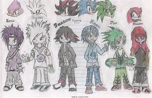 Human Sonic Characters by ShadowPand3monium on DeviantArt
